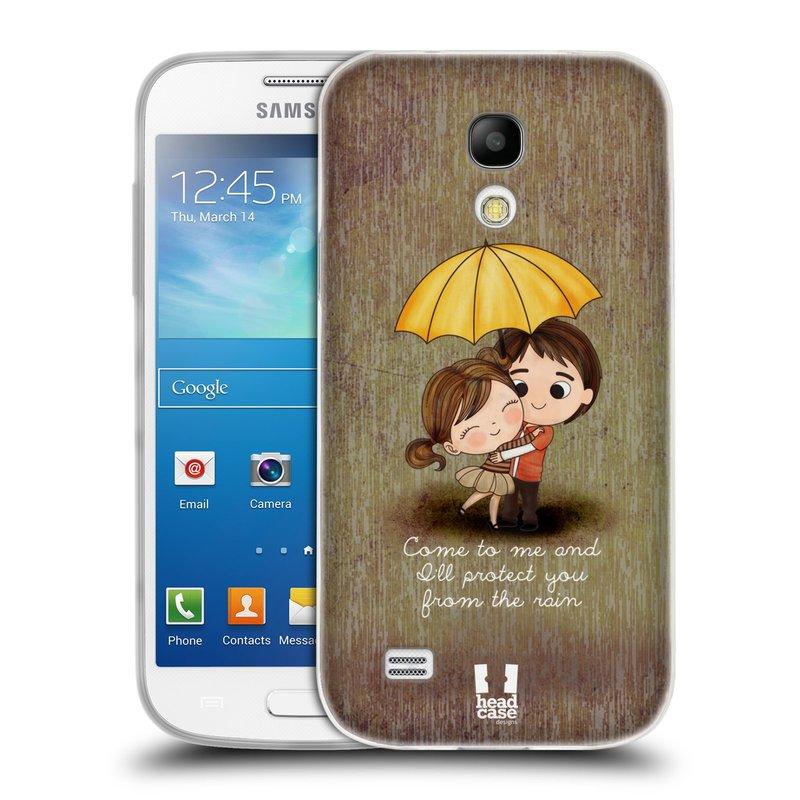 Silikonové pouzdro na mobil Samsung Galaxy S4 Mini VE HEAD CASE Emo Love v Dešti (Silikonový kryt či obal na mobilní telefon Samsung Galaxy S4 Mini VE GT-i9195i (nepasuje na verzi Black Edition))