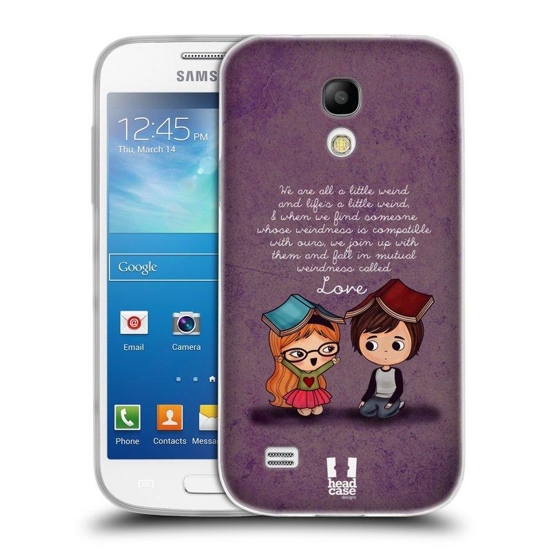 Silikonové pouzdro na mobil Samsung Galaxy S4 Mini VE HEAD CASE Emo Love Weirdness (Silikonový kryt či obal na mobilní telefon Samsung Galaxy S4 Mini VE GT-i9195i (nepasuje na verzi Black Edition))