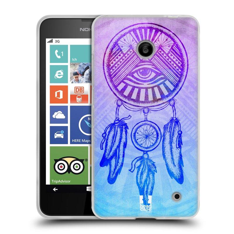 Silikonové pouzdro na mobil Nokia Lumia 630 HEAD CASE Lapač s okem (Silikonový kryt či obal na mobilní telefon Nokia Lumia 630 a Nokia Lumia 630 Dual SIM)