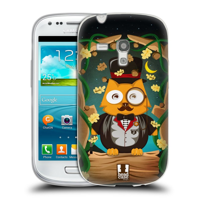 Silikonové pouzdro na mobil Samsung Galaxy S3 Mini VE HEAD CASE SOVA GENTLEMAN (Silikonový kryt či obal na mobilní telefon Samsung Galaxy S3 Mini VE GT-i8200)