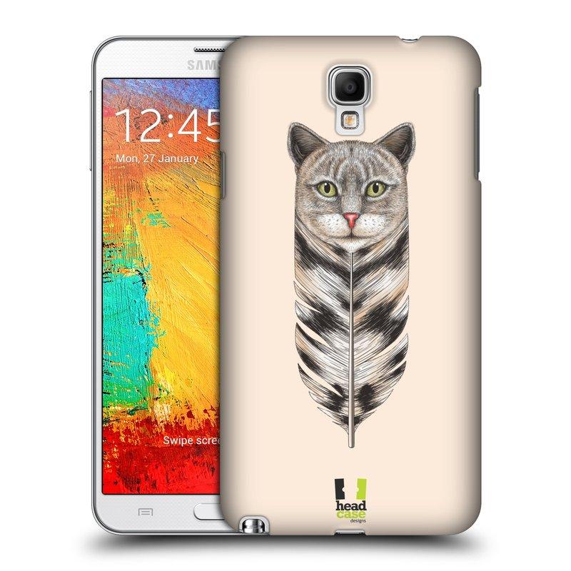 Plastové pouzdro na mobil Samsung Galaxy Note 3 Neo HEAD CASE PÍRKO KOČKA (Kryt či obal na mobilní telefon Samsung Galaxy Note 3 Neo SM-N7505)