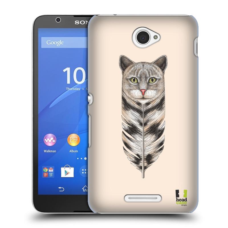Plastové pouzdro na mobil Sony Xperia E4 E2105 HEAD CASE PÍRKO KOČKA (Kryt či obal na mobilní telefon Sony Xperia E4 a E4 Dual SIM)
