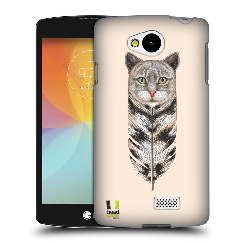 Plastové pouzdro na mobil LG F60 HEAD CASE PÍRKO KOČKA (Kryt či obal na mobilní telefon LG F60 D390n)
