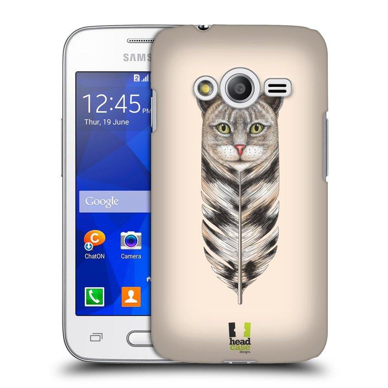 Plastové pouzdro na mobil Samsung Galaxy Trend 2 Lite HEAD CASE PÍRKO KOČKA (Kryt či obal na mobilní telefon Samsung Galaxy Trend 2 Lite SM-G318)