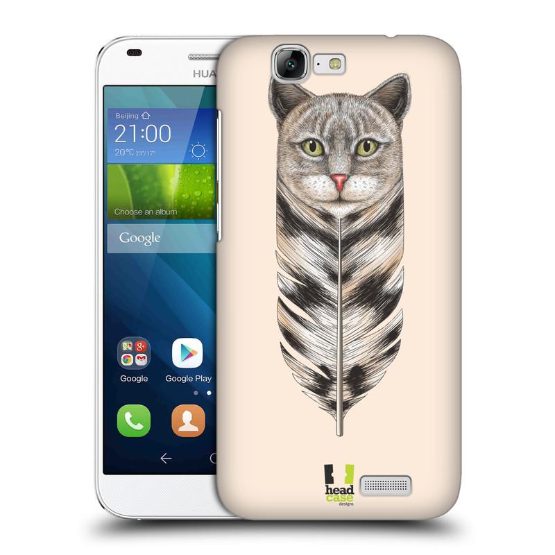 Plastové pouzdro na mobil Huawei Ascend G7 HEAD CASE PÍRKO KOČKA (Kryt či obal na mobilní telefon Huawei Ascend G7)