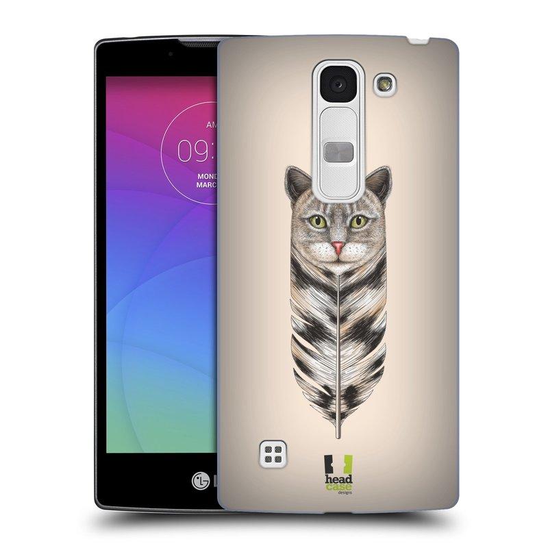 Plastové pouzdro na mobil LG Spirit LTE HEAD CASE PÍRKO KOČKA (Kryt či obal na mobilní telefon LG Spirit H420 a LG Spirit LTE H440N)