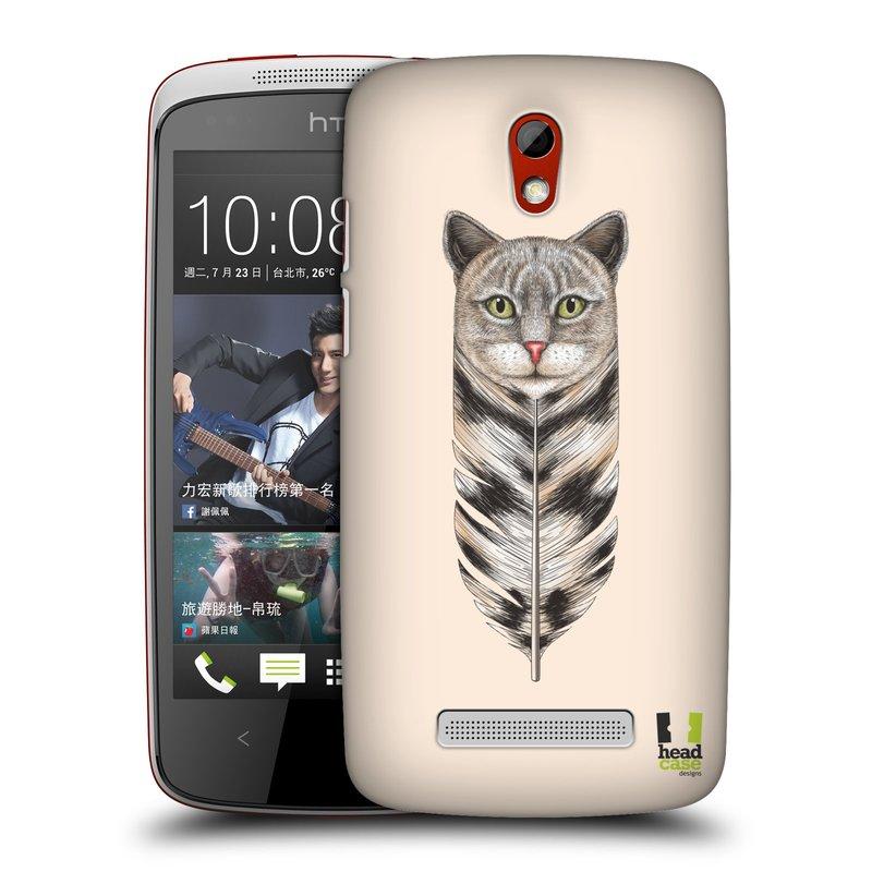 Plastové pouzdro na mobil HTC Desire 500 HEAD CASE PÍRKO KOČKA (Kryt či obal na mobilní telefon HTC Desire 500)