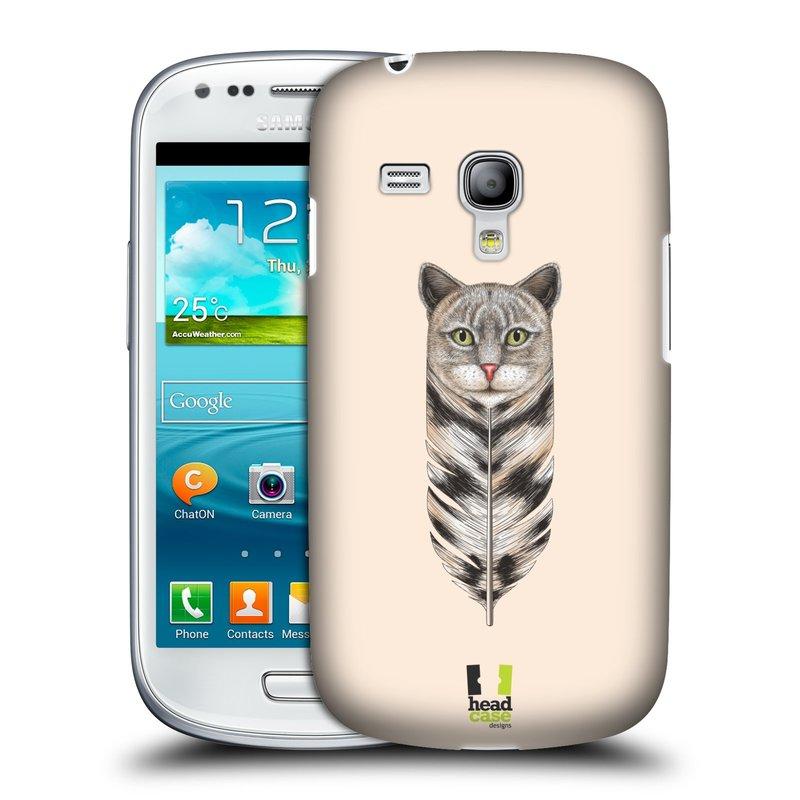 Plastové pouzdro na mobil Samsung Galaxy S III Mini HEAD CASE PÍRKO KOČKA (Kryt či obal na mobilní telefon Samsung Galaxy S III Mini GT-i8190)
