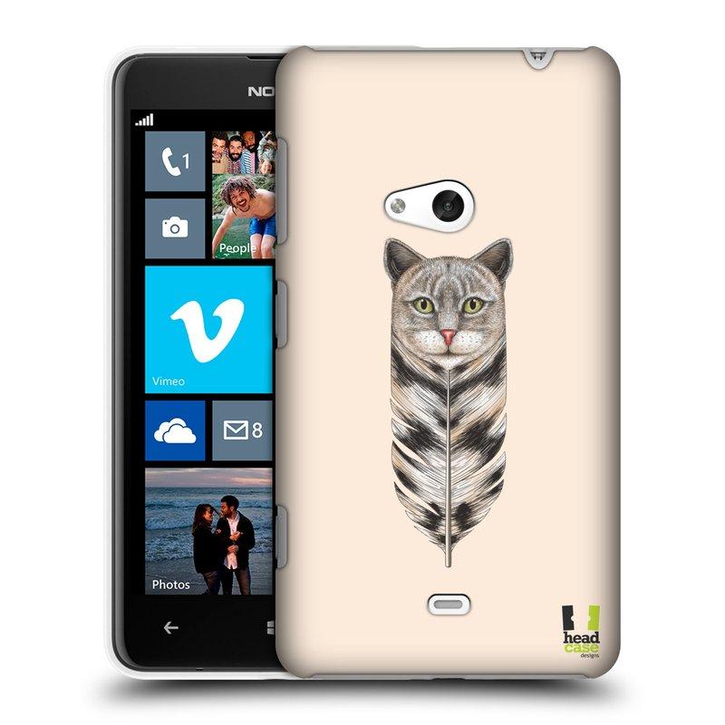Plastové pouzdro na mobil Nokia Lumia 625 HEAD CASE PÍRKO KOČKA (Kryt či obal na mobilní telefon Nokia Lumia 625)