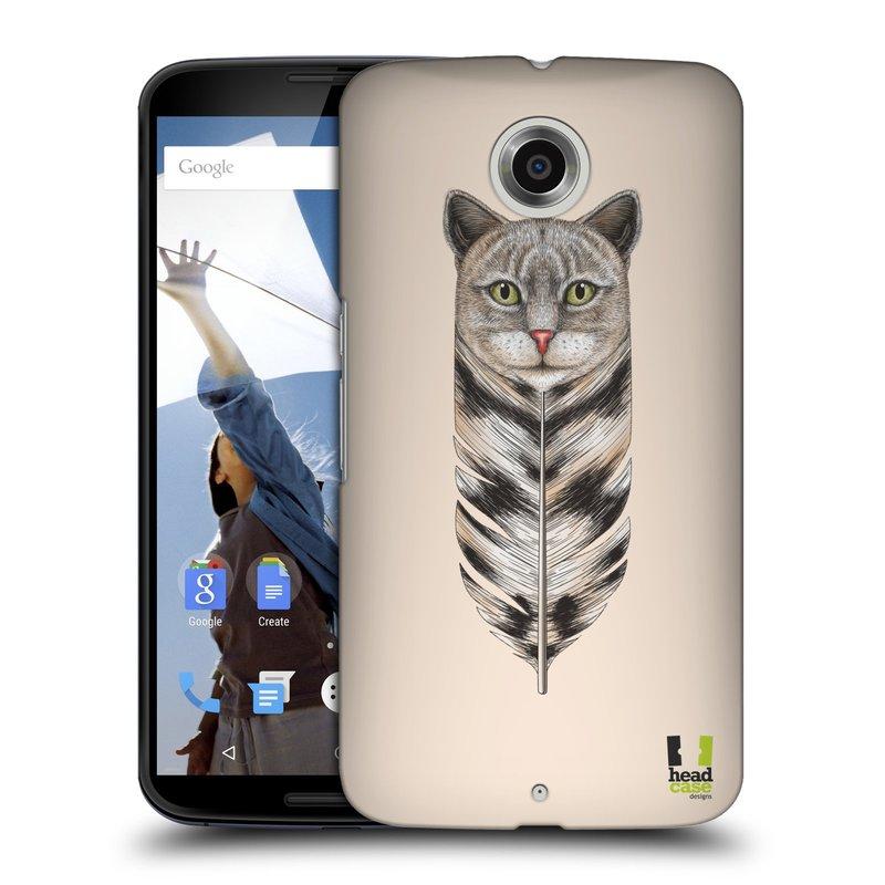 Plastové pouzdro na mobil Motorola Nexus 6 HEAD CASE PÍRKO KOČKA (Kryt či obal na mobilní telefon Motorola Nexus 6)