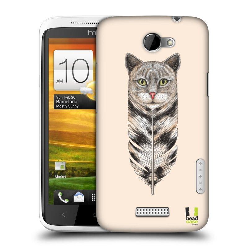 Plastové pouzdro na mobil HTC ONE X HEAD CASE PÍRKO KOČKA (Kryt či obal na mobilní telefon HTC ONE X)