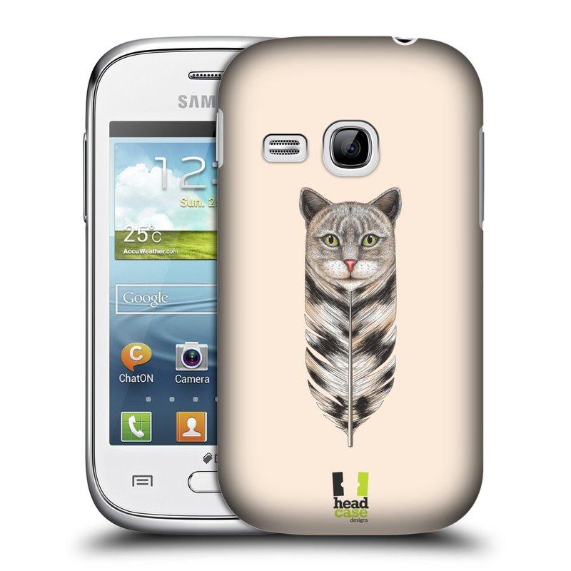 Plastové pouzdro na mobil Samsung Galaxy Young HEAD CASE PÍRKO KOČKA (Kryt či obal na mobilní telefon Samsung Galaxy Young GT-S6310)