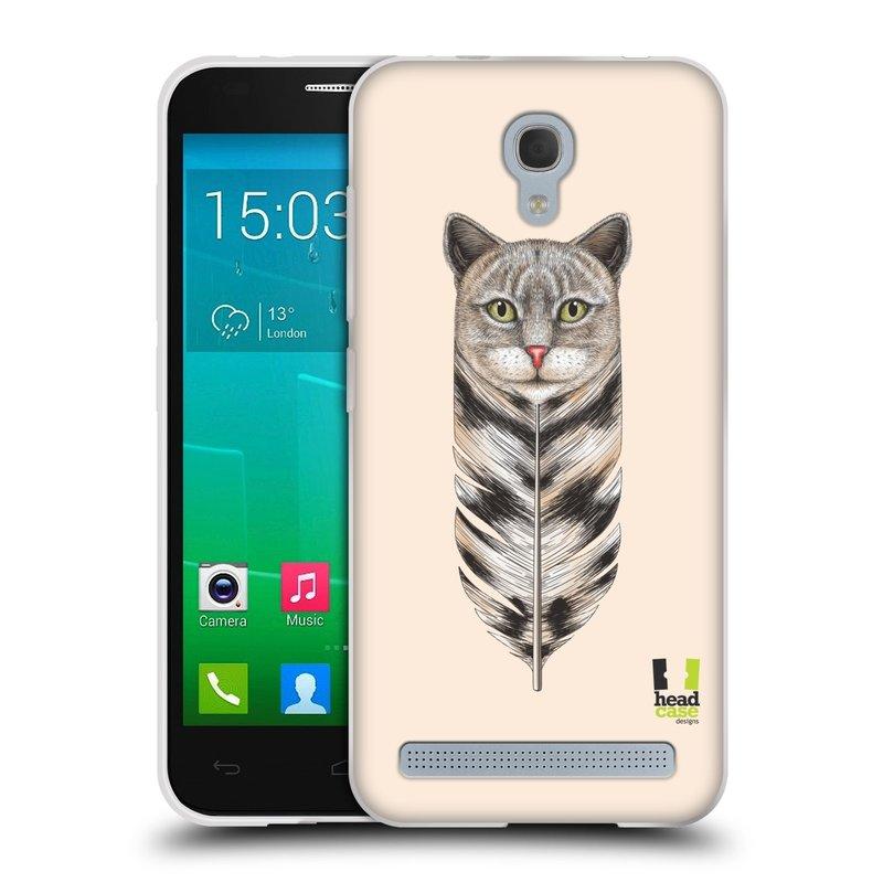Silikonové pouzdro na mobil Alcatel One Touch Idol 2 Mini S 6036Y HEAD CASE PÍRKO KOČKA (Silikonový kryt či obal na mobilní telefon Alcatel Idol 2 Mini S OT-6036Y)