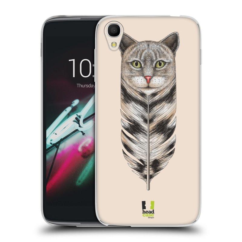 """Silikonové pouzdro na mobil Alcatel One Touch 6039Y Idol 3 HEAD CASE PÍRKO KOČKA (Silikonový kryt či obal na mobilní telefon Alcatel One Touch Idol 3 OT-6039Y s 4,7"""" displejem)"""