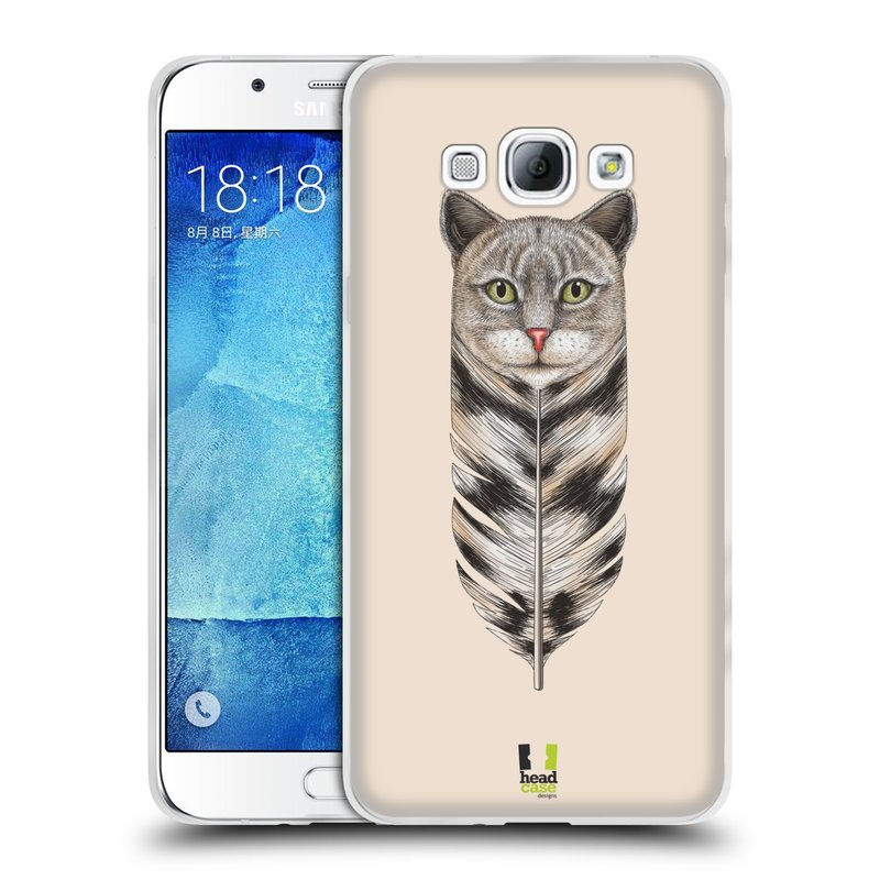 Silikonové pouzdro na mobil Samsung Galaxy A8 HEAD CASE PÍRKO KOČKA (Silikonový kryt či obal na mobilní telefon Samsung Galaxy A8 SM-A800)