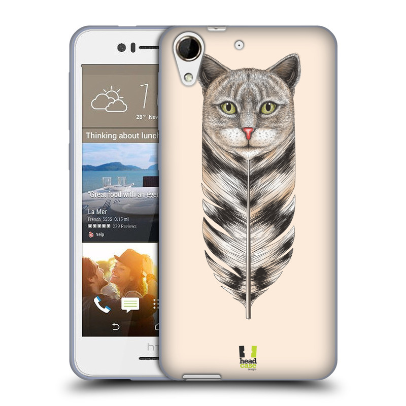 Silikonové pouzdro na mobil HTC Desire 728G Dual SIM HEAD CASE PÍRKO KOČKA (Silikonový kryt či obal na mobilní telefon HTC Desire 728 G Dual SIM)
