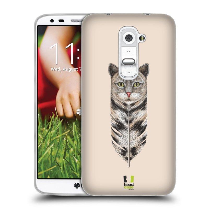 Silikonové pouzdro na mobil LG G2 HEAD CASE PÍRKO KOČKA (Silikonový kryt či obal na mobilní telefon LG G2 D802)