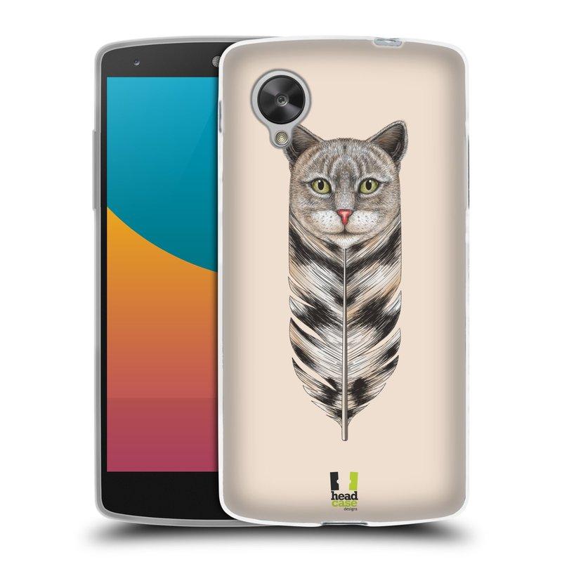 Silikonové pouzdro na mobil LG Nexus 5 HEAD CASE PÍRKO KOČKA (Silikonový kryt či obal na mobilní telefon LG Google Nexus 5 D821)