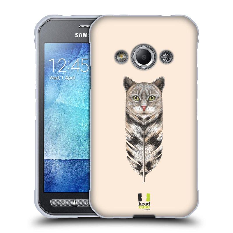 Silikonové pouzdro na mobil Samsung Galaxy Xcover 3 HEAD CASE PÍRKO KOČKA (Silikonový kryt či obal na mobilní telefon Samsung Galaxy Xcover 3 SM-G388F)