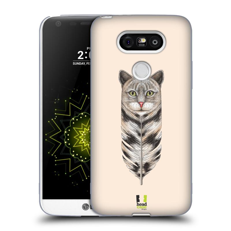 Silikonové pouzdro na mobil LG G5 HEAD CASE PÍRKO KOČKA (Silikonový kryt či obal na mobilní telefon LG G5 H850)