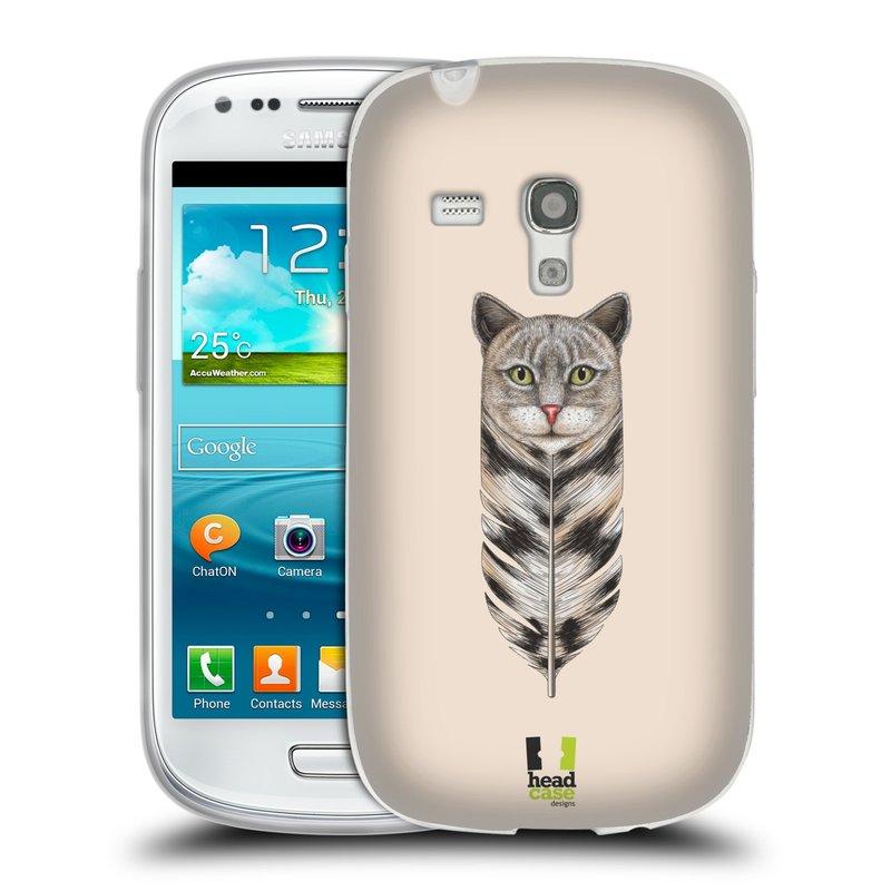 Silikonové pouzdro na mobil Samsung Galaxy S III Mini HEAD CASE PÍRKO KOČKA (Silikonový kryt či obal na mobilní telefon Samsung Galaxy S III Mini GT-i8190)