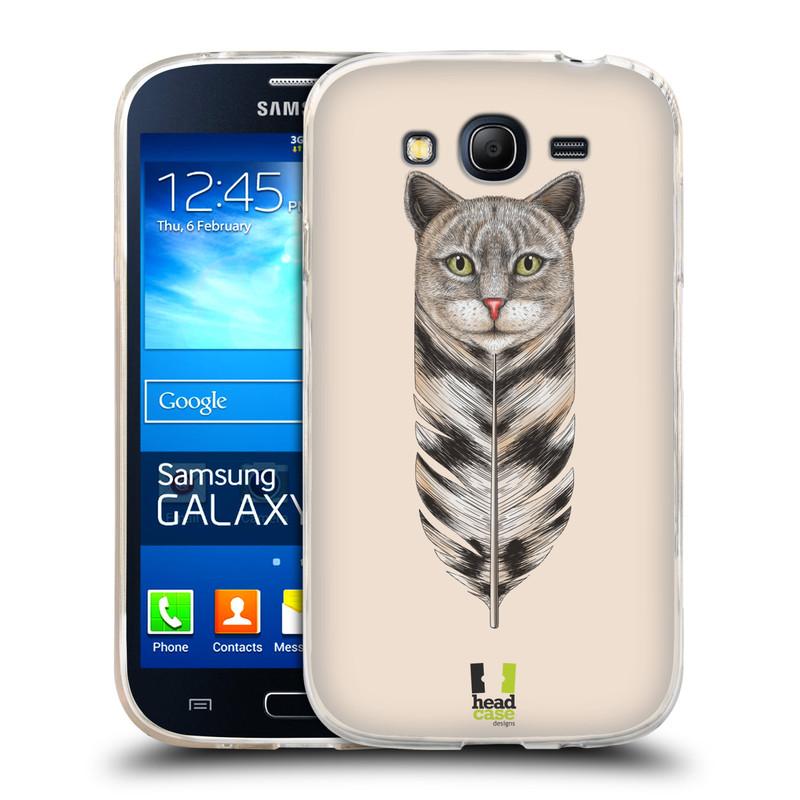 Silikonové pouzdro na mobil Samsung Galaxy Grand Neo HEAD CASE PÍRKO KOČKA (Silikonový kryt či obal na mobilní telefon Samsung Galaxy Grand Neo GT-I9060)