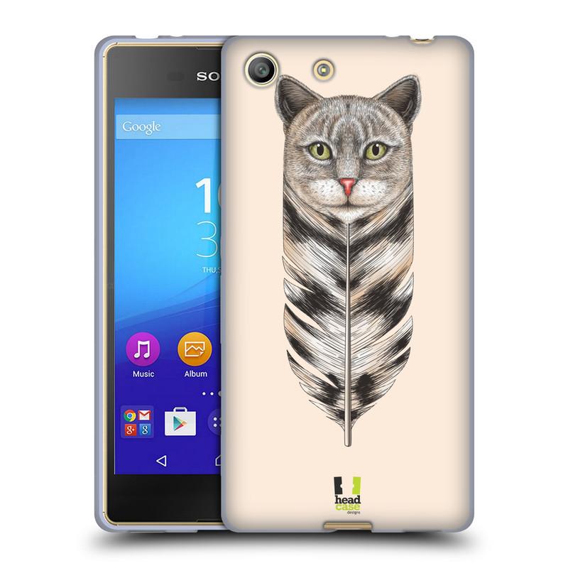 Silikonové pouzdro na mobil Sony Xperia M5 HEAD CASE PÍRKO KOČKA (Silikonový kryt či obal na mobilní telefon Sony Xperia M5 Dual SIM / Aqua)