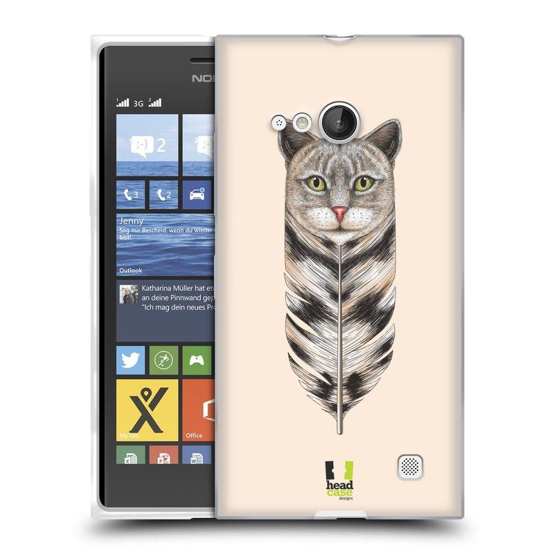 Silikonové pouzdro na mobil Nokia Lumia 730 Dual SIM HEAD CASE PÍRKO KOČKA (Silikonový kryt či obal na mobilní telefon Nokia Lumia 730 Dual SIM)