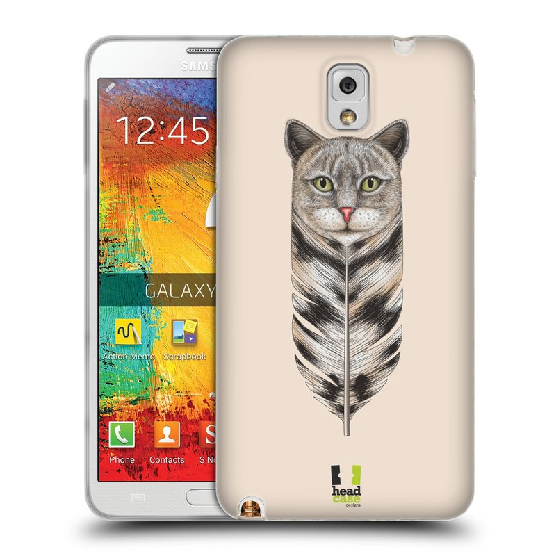 Silikonové pouzdro na mobil Samsung Galaxy Note 3 HEAD CASE PÍRKO KOČKA (Silikonový kryt či obal na mobilní telefon Samsung Galaxy Note 3 SM-N9005)