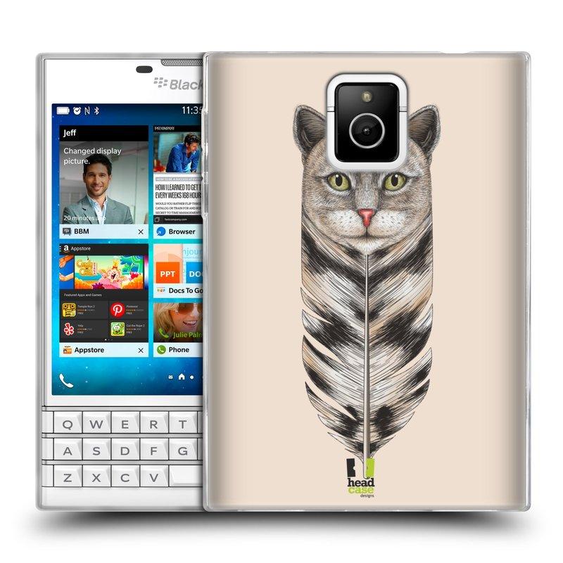 Silikonové pouzdro na mobil Blackberry PASSPORT HEAD CASE PÍRKO KOČKA (Silikonový kryt či obal na mobilní telefon Blackberry PASSPORT)