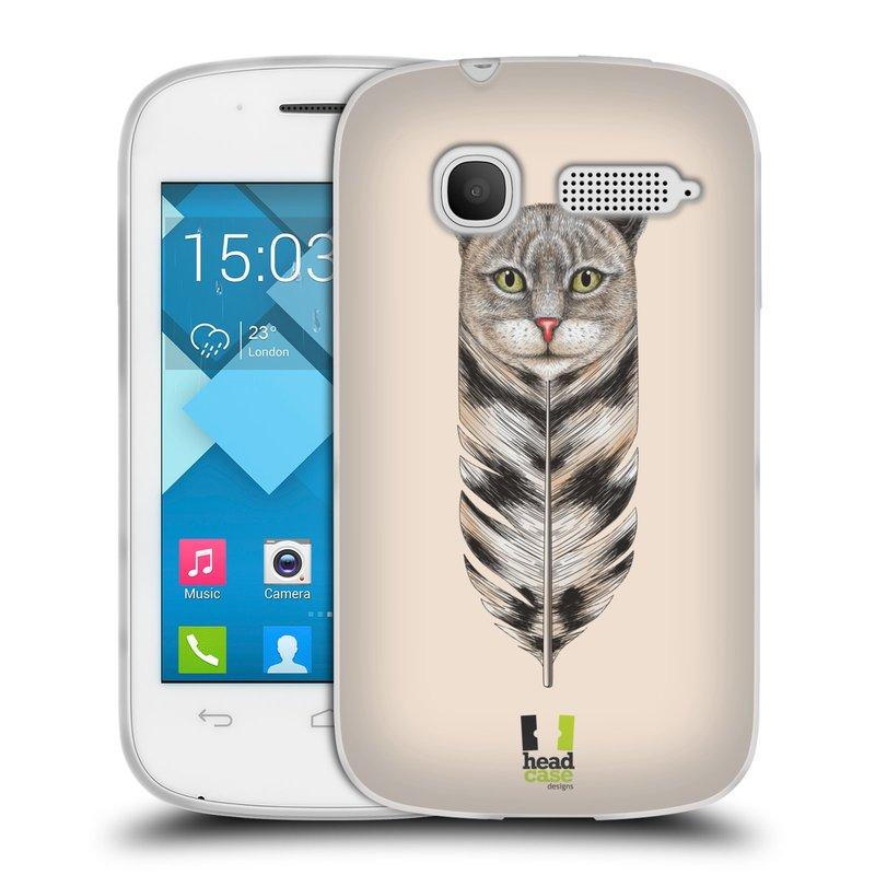 Silikonové pouzdro na mobil Alcatel One Touch Pop C1 HEAD CASE PÍRKO KOČKA (Silikonový kryt či obal na mobilní telefon Alcatel OT-4015D POP C1)