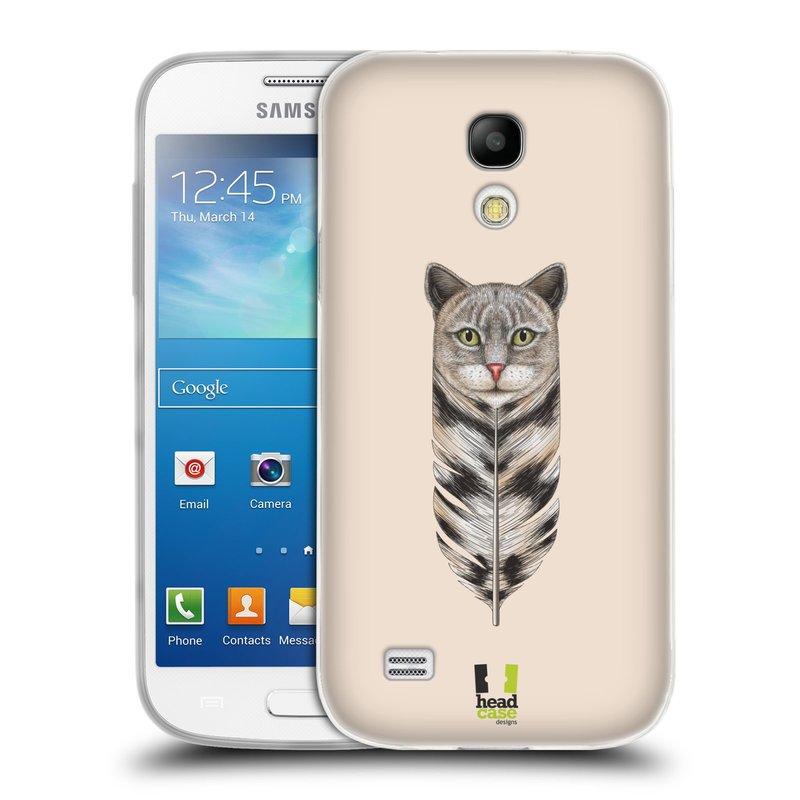Silikonové pouzdro na mobil Samsung Galaxy S4 Mini HEAD CASE PÍRKO KOČKA (Silikonový kryt či obal na mobilní telefon Samsung Galaxy S4 Mini GT-i9195 / i9190 (nepasuje na verzi Black Edition))