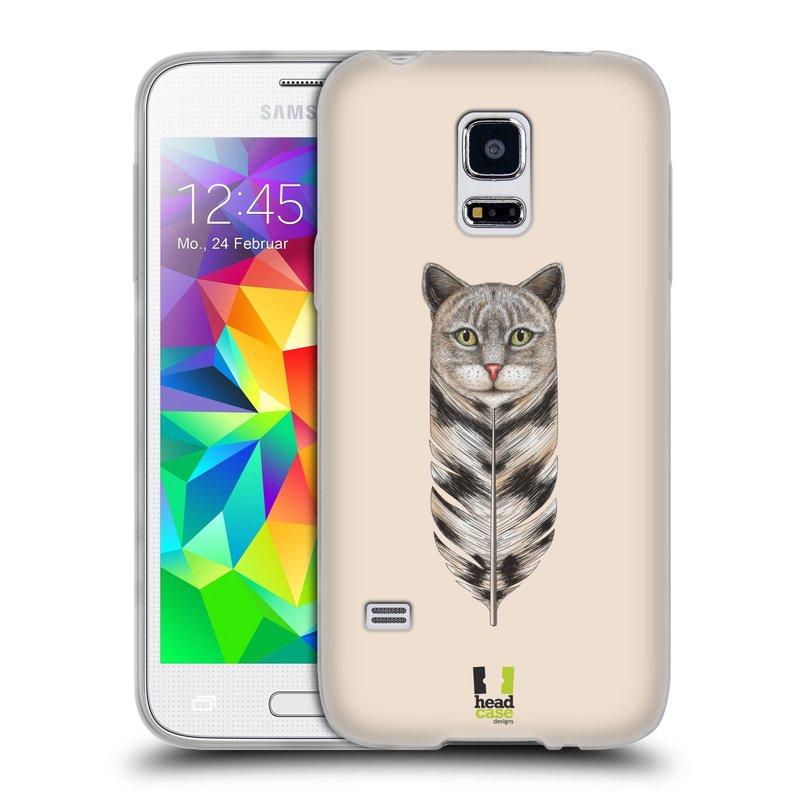 Silikonové pouzdro na mobil Samsung Galaxy S5 Mini HEAD CASE PÍRKO KOČKA (Silikonový kryt či obal na mobilní telefon Samsung Galaxy S5 Mini SM-G800F)