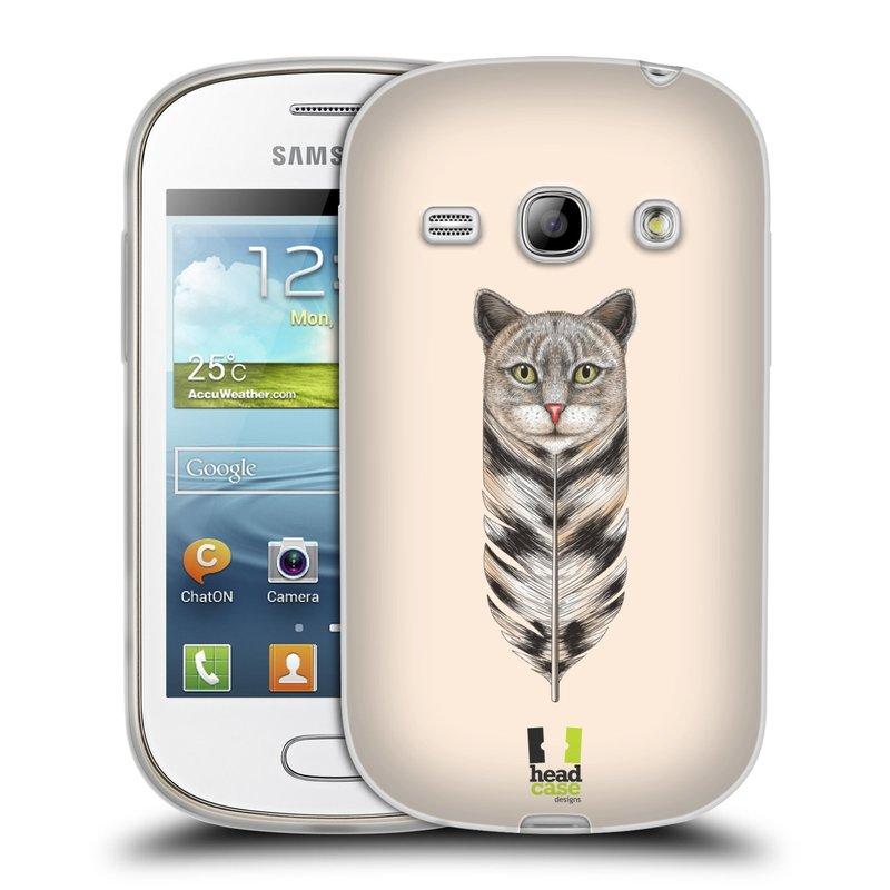 Silikonové pouzdro na mobil Samsung Galaxy Fame HEAD CASE PÍRKO KOČKA (Silikonový kryt či obal na mobilní telefon Samsung Galaxy Fame GT-S6810)