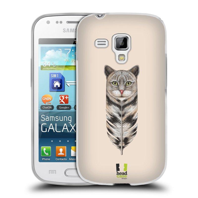 Silikonové pouzdro na mobil Samsung Galaxy S Duos HEAD CASE PÍRKO KOČKA (Silikonový kryt či obal na mobilní telefon Samsung Galaxy S Duos GT-S7562)