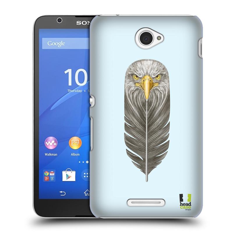 Plastové pouzdro na mobil Sony Xperia E4 E2105 HEAD CASE PÍRKO OREL (Kryt či obal na mobilní telefon Sony Xperia E4 a E4 Dual SIM)