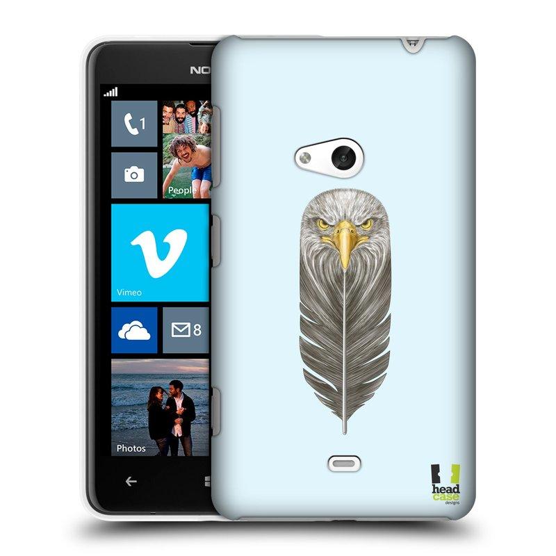 Plastové pouzdro na mobil Nokia Lumia 625 HEAD CASE PÍRKO OREL (Kryt či obal na mobilní telefon Nokia Lumia 625)