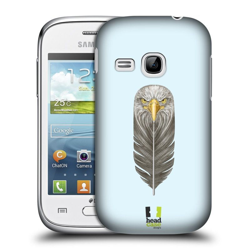 Plastové pouzdro na mobil Samsung Galaxy Young HEAD CASE PÍRKO OREL (Kryt či obal na mobilní telefon Samsung Galaxy Young GT-S6310)