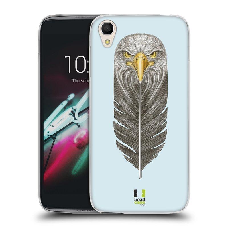 "Silikonové pouzdro na mobil Alcatel One Touch 6039Y Idol 3 HEAD CASE PÍRKO OREL (Silikonový kryt či obal na mobilní telefon Alcatel One Touch Idol 3 OT-6039Y s 4,7"" displejem)"