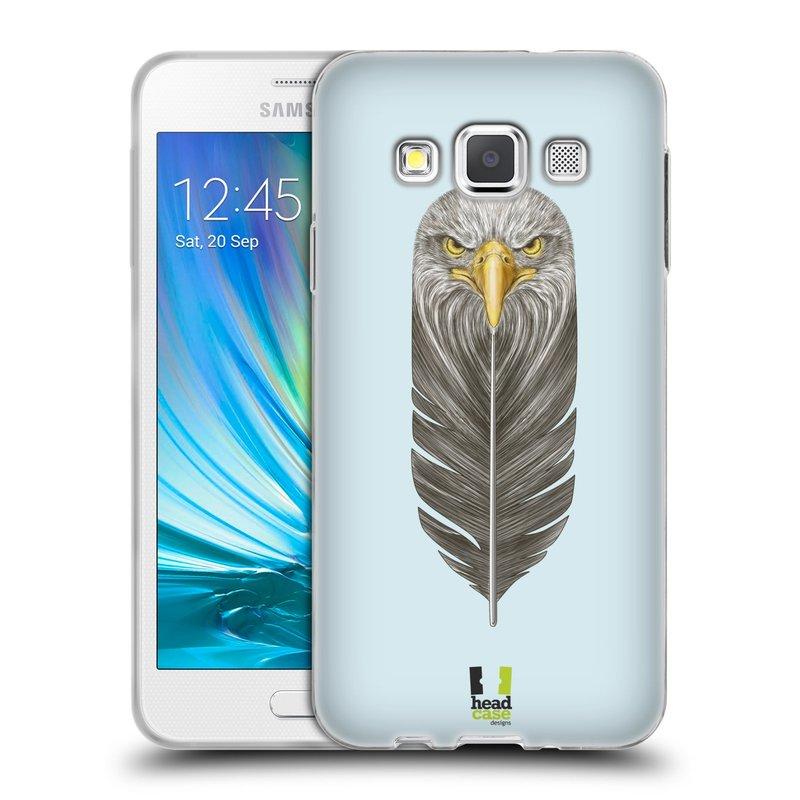 Silikonové pouzdro na mobil Samsung Galaxy A3 HEAD CASE PÍRKO OREL (Silikonový kryt či obal na mobilní telefon Samsung Galaxy A3 SM-A300)
