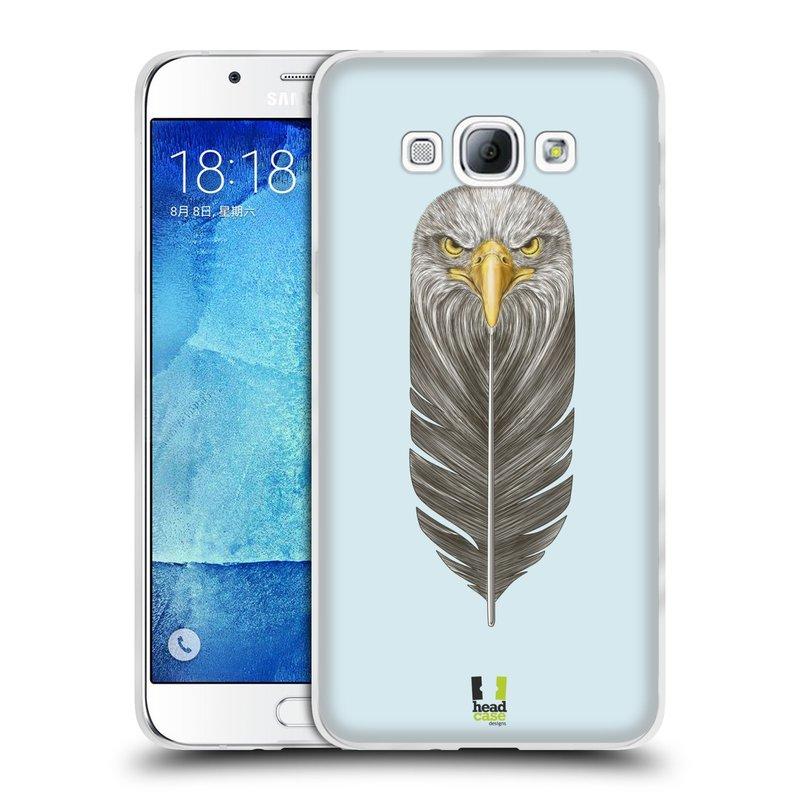 Silikonové pouzdro na mobil Samsung Galaxy A8 HEAD CASE PÍRKO OREL (Silikonový kryt či obal na mobilní telefon Samsung Galaxy A8 SM-A800)