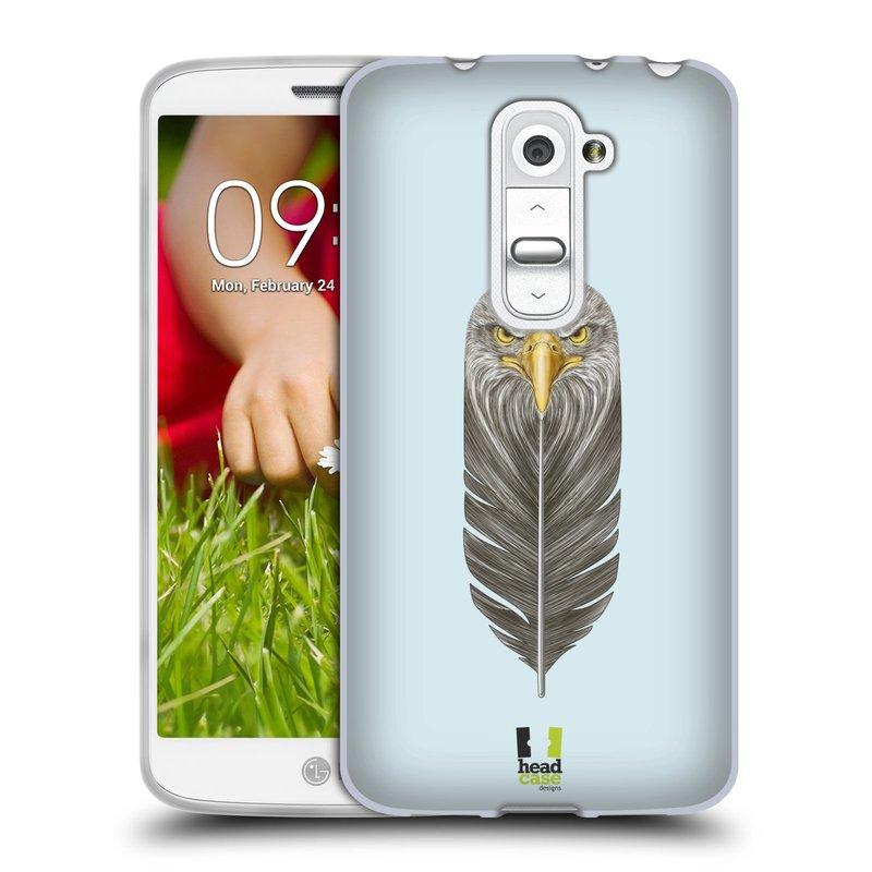 Silikonové pouzdro na mobil LG G2 Mini HEAD CASE PÍRKO OREL (Silikonový kryt či obal na mobilní telefon LG G2 Mini D620)