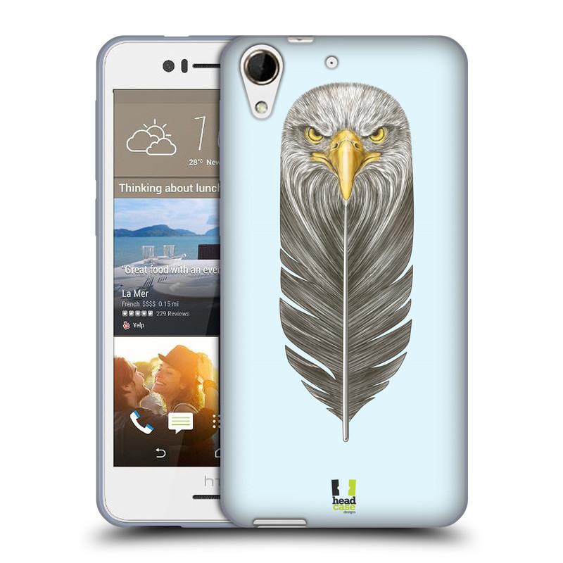 Silikonové pouzdro na mobil HTC Desire 728G Dual SIM HEAD CASE PÍRKO OREL (Silikonový kryt či obal na mobilní telefon HTC Desire 728 G Dual SIM)