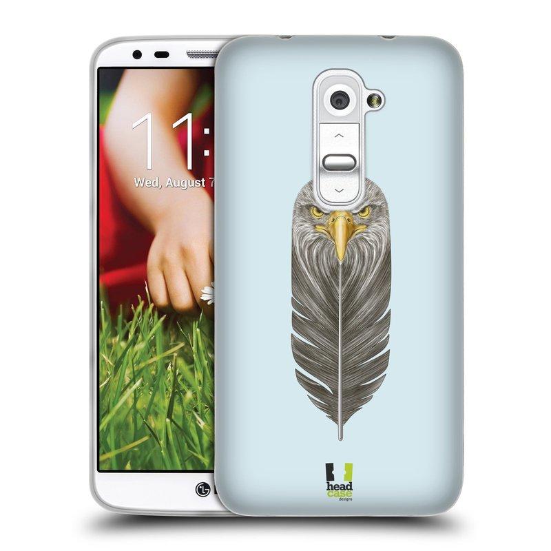 Silikonové pouzdro na mobil LG G2 HEAD CASE PÍRKO OREL (Silikonový kryt či obal na mobilní telefon LG G2 D802)
