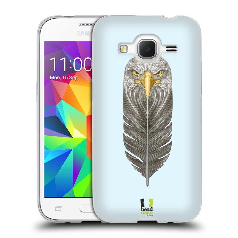 Silikonové pouzdro na mobil Samsung Galaxy Core Prime LTE HEAD CASE PÍRKO OREL (Silikonový kryt či obal na mobilní telefon Samsung Galaxy Core Prime LTE SM-G360)