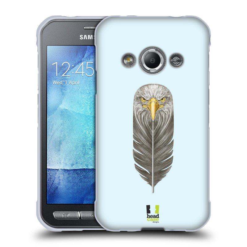 Silikonové pouzdro na mobil Samsung Galaxy Xcover 3 HEAD CASE PÍRKO OREL (Silikonový kryt či obal na mobilní telefon Samsung Galaxy Xcover 3 SM-G388F)