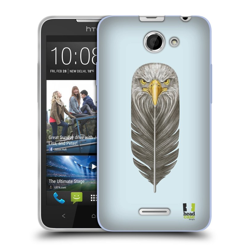 Silikonové pouzdro na mobil HTC Desire 516 HEAD CASE PÍRKO OREL (Silikonový kryt či obal na mobilní telefon HTC Desire 516 Dual SIM)