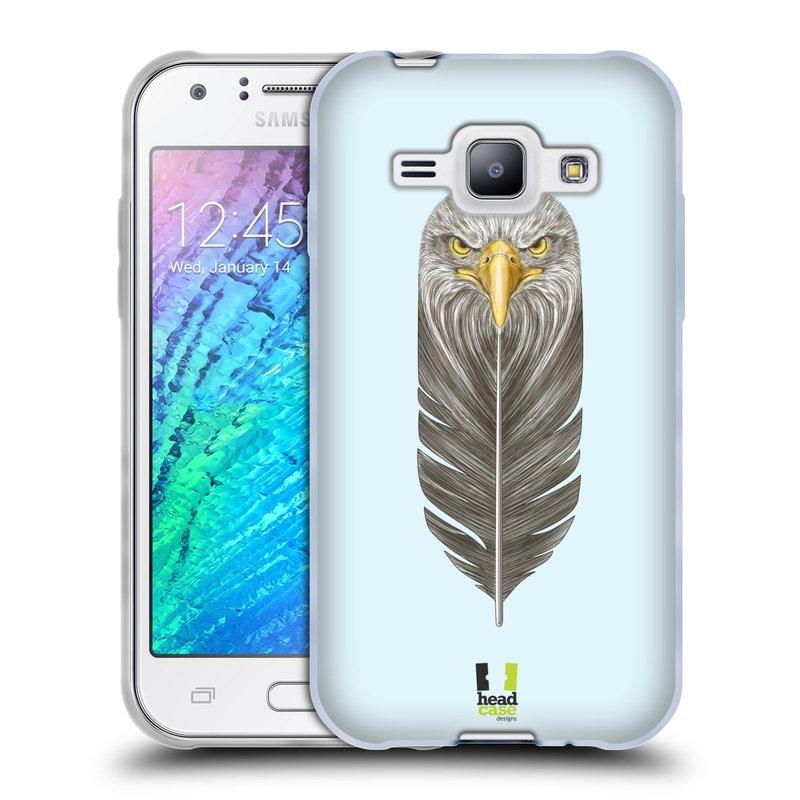 Silikonové pouzdro na mobil Samsung Galaxy J1 HEAD CASE PÍRKO OREL (Silikonový kryt či obal na mobilní telefon Samsung Galaxy J1 a J1 Duos)