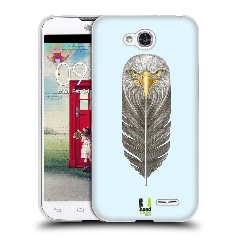Silikonové pouzdro na mobil LG L90 HEAD CASE PÍRKO OREL (Silikonový kryt či obal na mobilní telefon LG L90 D405n)