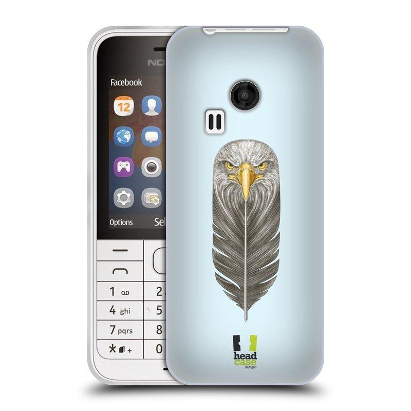 Silikonové pouzdro na mobil Nokia 220 HEAD CASE PÍRKO OREL (Silikonový kryt či obal na mobilní telefon Nokia 220 a 220 Dual SIM)
